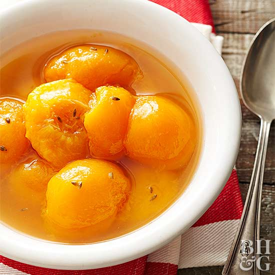 Canned Honey-Lavender Peaches