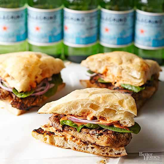 Chicken Sandwiches with Roasted Pepper and Goat Cheese Spread