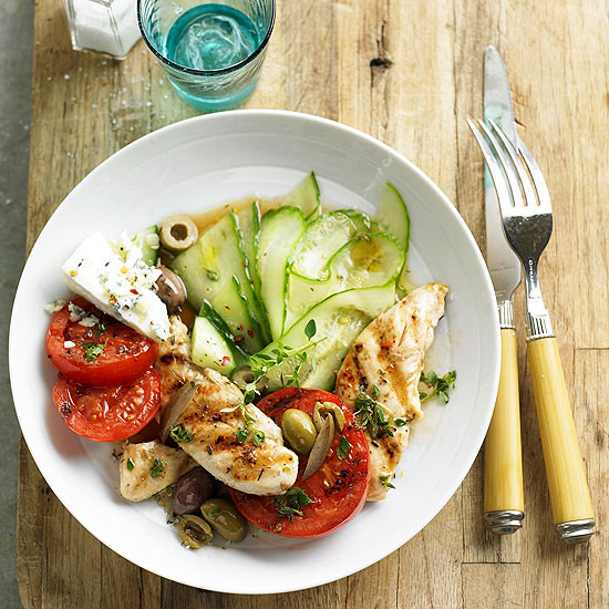 Chicken, Tomato, and Cucumber Salad
