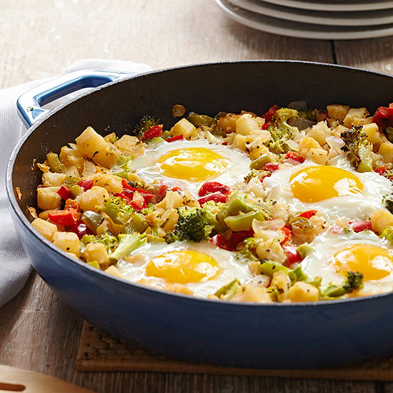 Confetti Hash Browns and Eggs