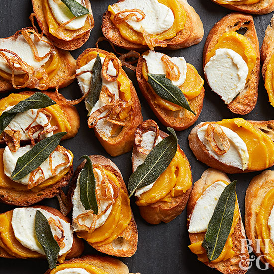 Crostini with Delicata Squash Butter