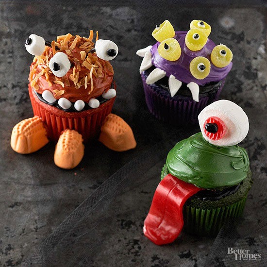 Mini Monster Cupcakes