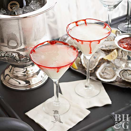Bloody-Rimmed Martinis