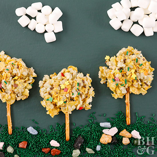 Fall Trees Marshmallow Treats