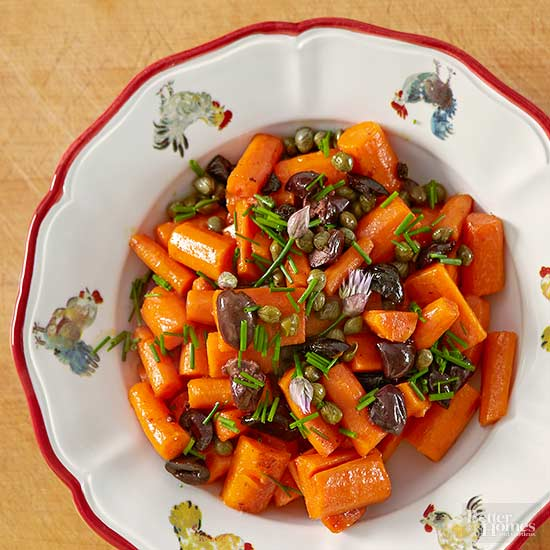 Glazed Carrots with Olives