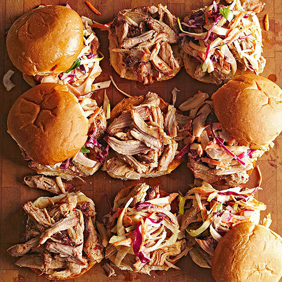 Grill-Smoked Pulled Pork Sandwiches