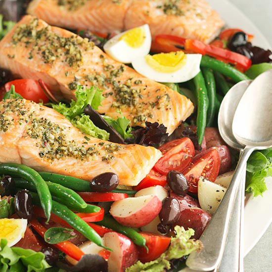Grilled Salmon Salad Nicoise Better Homes Gardens