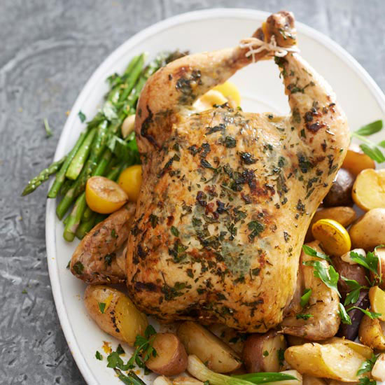 Herbed Chicken with Spring Vegetables
