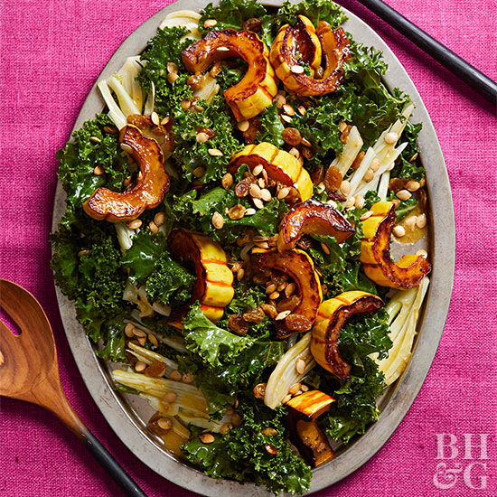 Kale, Fennel, and Roasted Delicata Salad