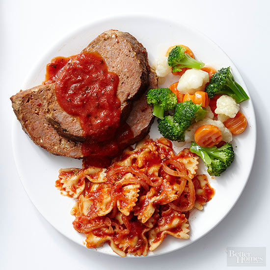 Make-Ahead Bacon Meat Loaf TV Dinner