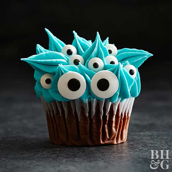 Nine-Eyed Creature Cupcakes