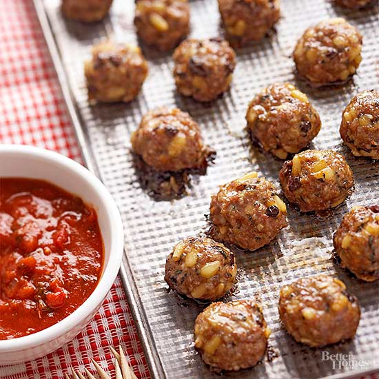 Oven-Baked Sicilian Meatballs