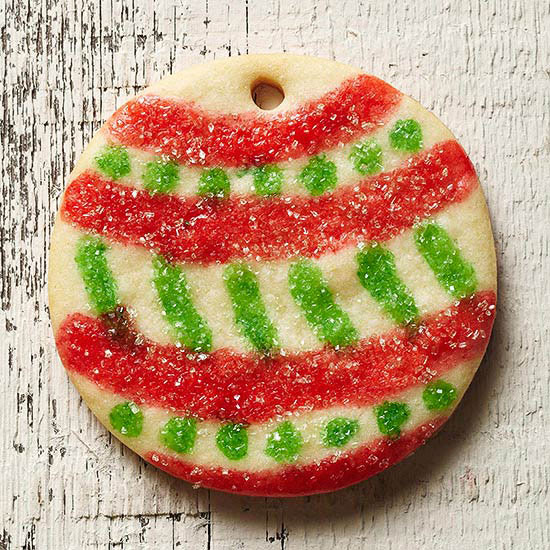 Painted Round Ornament Cookies