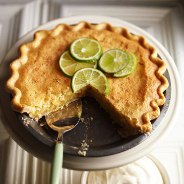 Lime Coconut Chess Pie