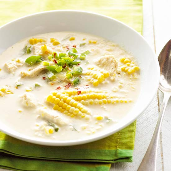 Fresh Corn and Chicken Chowder
