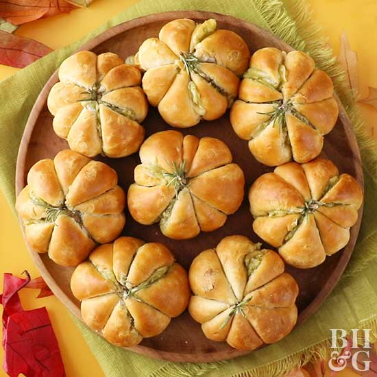 Pumpkin Shaped Meatball Biscuits