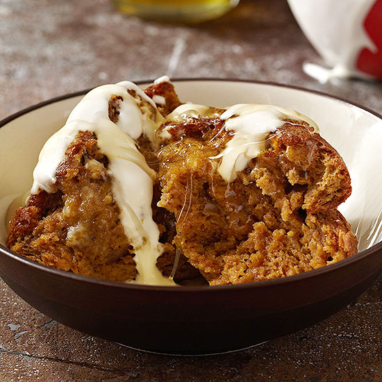 Pumpkin Souffle Cake with Honey and Creme Fraiche