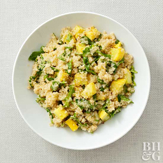 Quinoa Salad with Squash and Mint