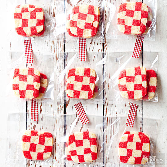 Red Plaid Cookies