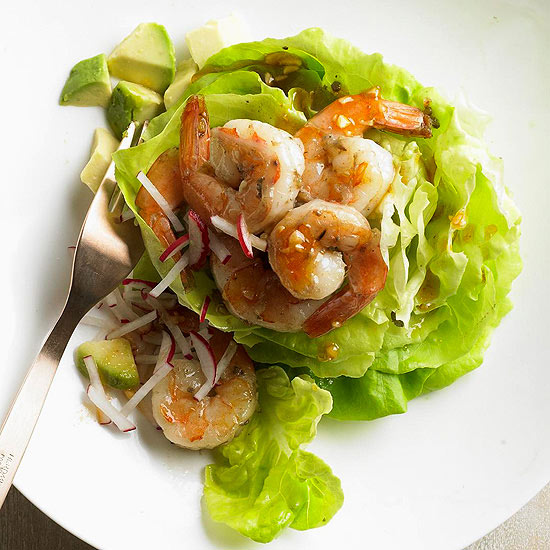 Seared Shrimp Salad with Wok Dressing