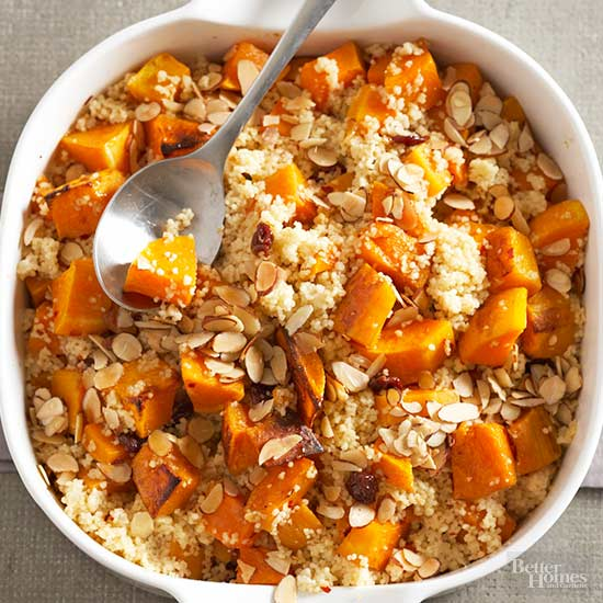 Spiced Butternut Squash with Almonds