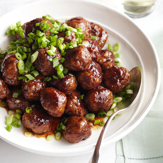 Spicy Apple-Glazed Meatballs