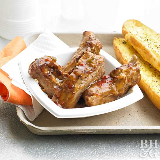 Spicy Soy-Ginger Riblets