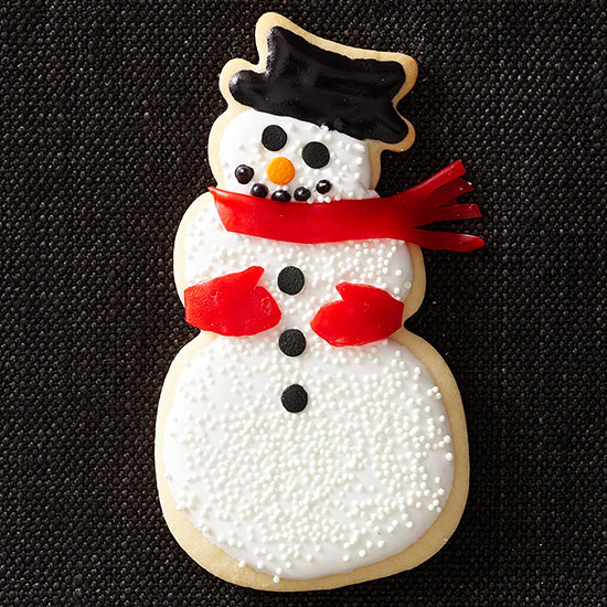Traditional Snowmen Sugar Cookies