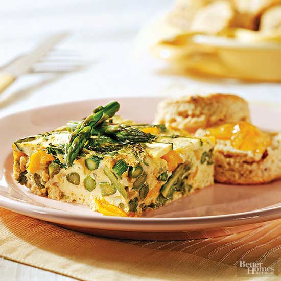 Asparagus, Zucchini, and Yellow Pepper Frittata