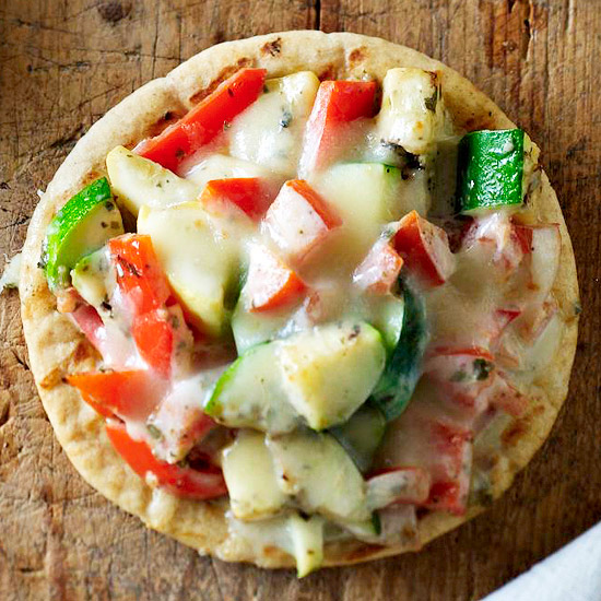 Grilled Vegetable Pizzas