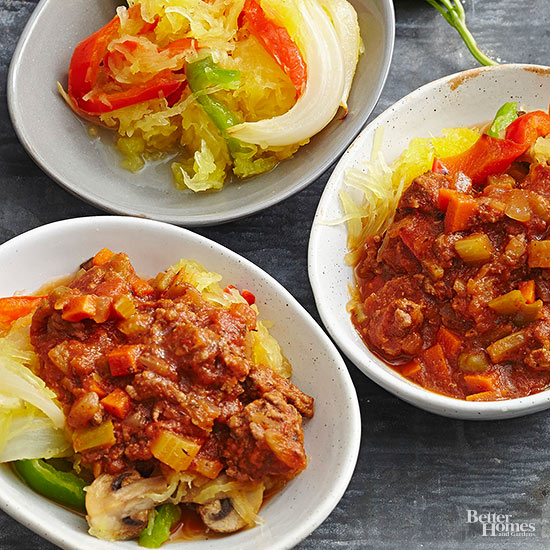 Zesty Meat Sauce with Spaghetti Squash