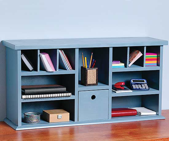 How to Build a Desk with Hutch Shelves