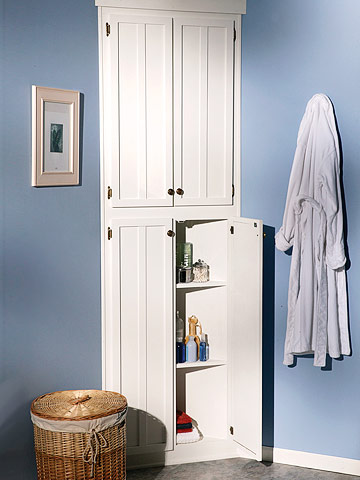 How to Build a Corner Linen Cabinet