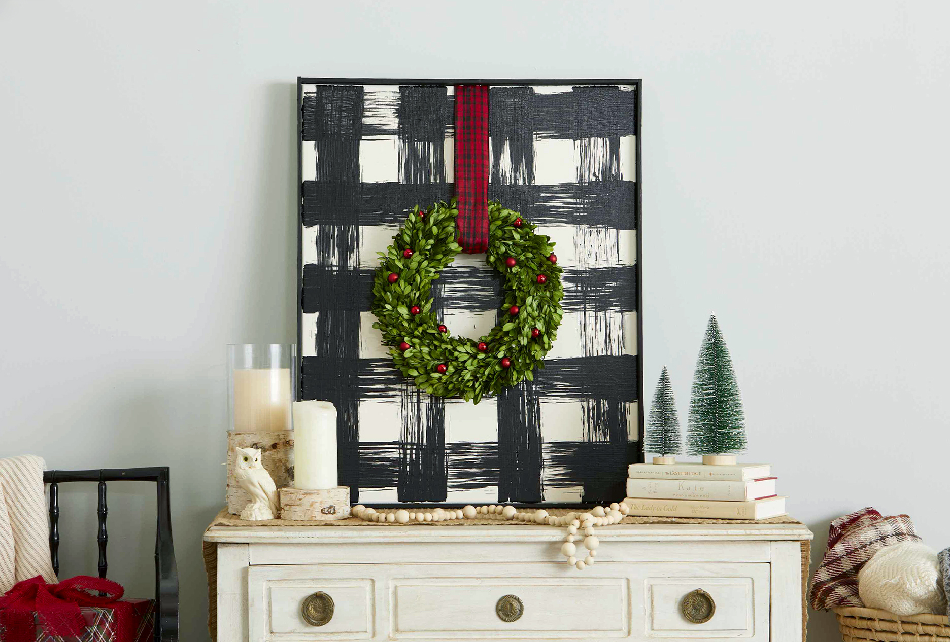 Buffalo Check Christmas Wreath.Gorgeous Buffalo Check Christmas Decor Better Homes Gardens