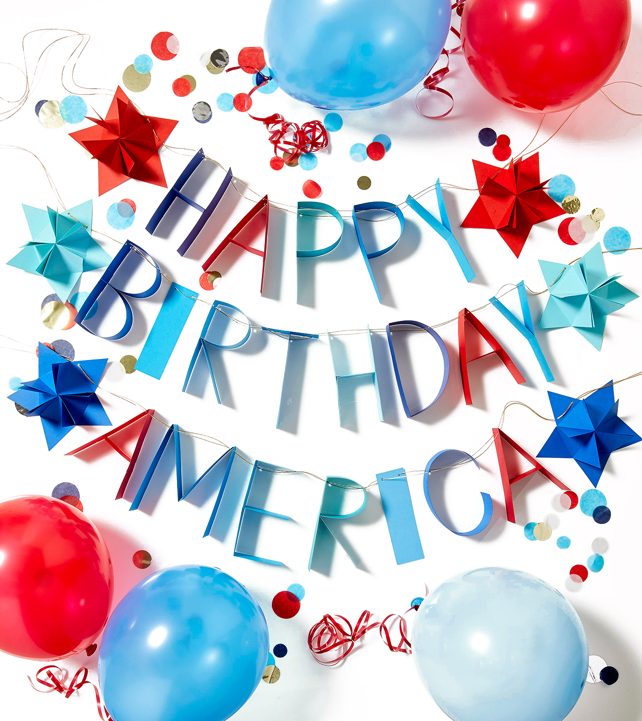 happy birthday america banner decor