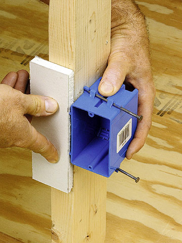 Installing An Electrical Box In Framing Better Homes Gardens
