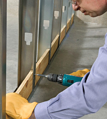 Framing An Interior Wall With Metal Studs Better Homes