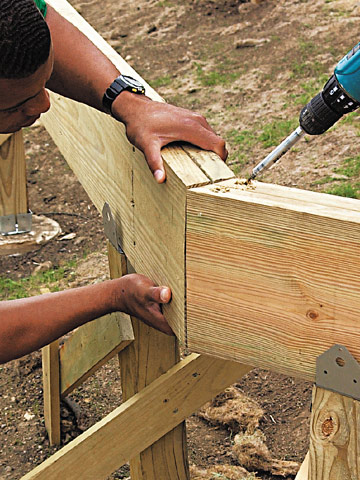 Angled Corner and Joists | Better Homes & Gardens
