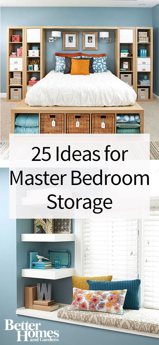 Copy This Bedroom\'s 25 Creative Storage Ideas