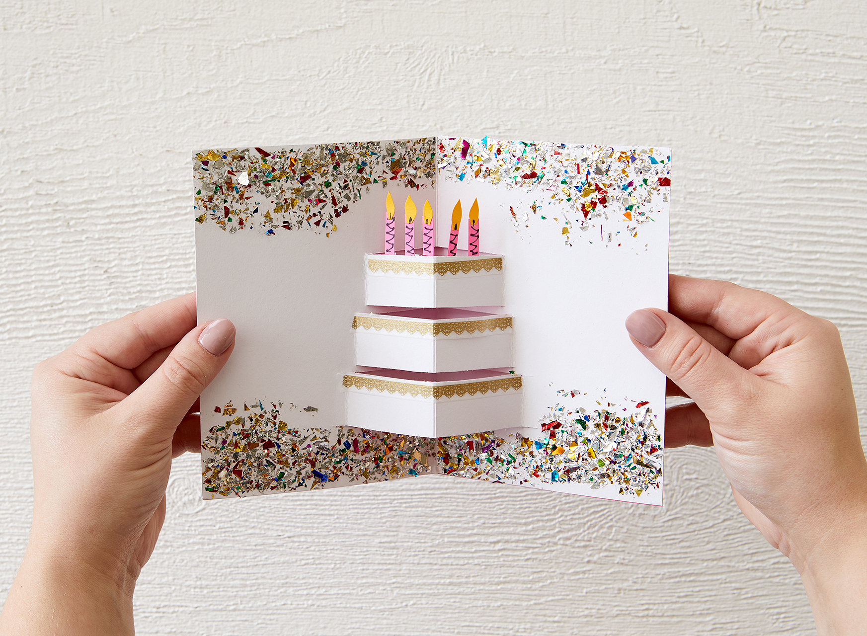3d Birthday Card With Pop Out Cake Detail