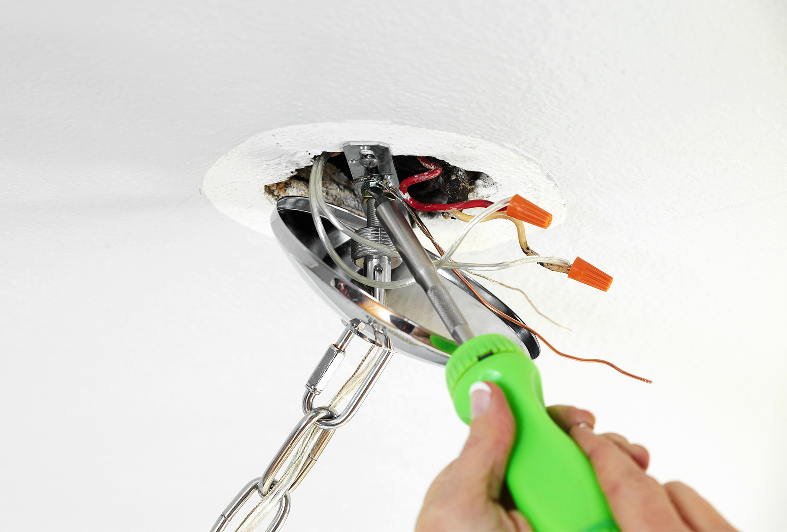 light fixture installation screwdriver how-to