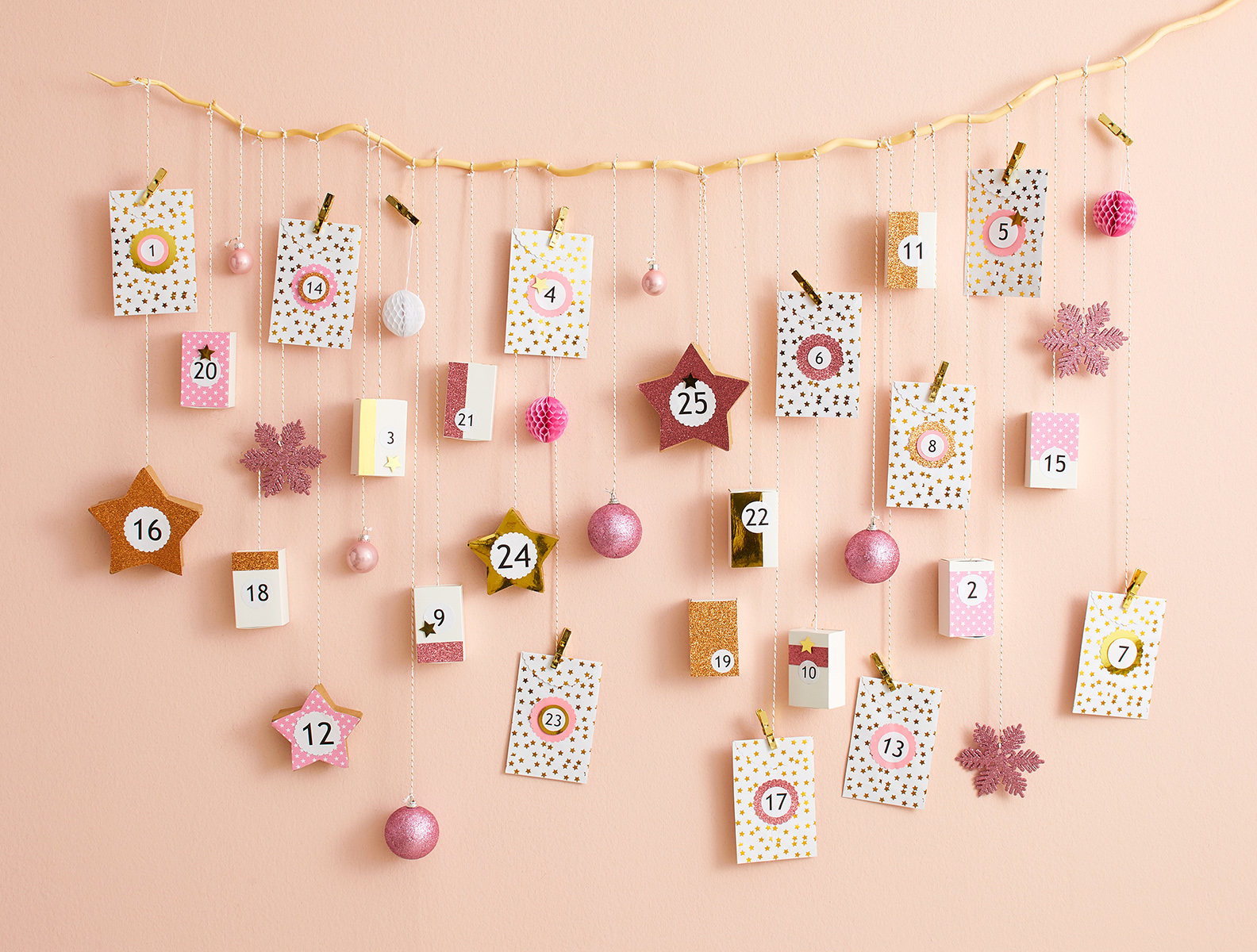 Make a DIY Hanging Advent Calendar