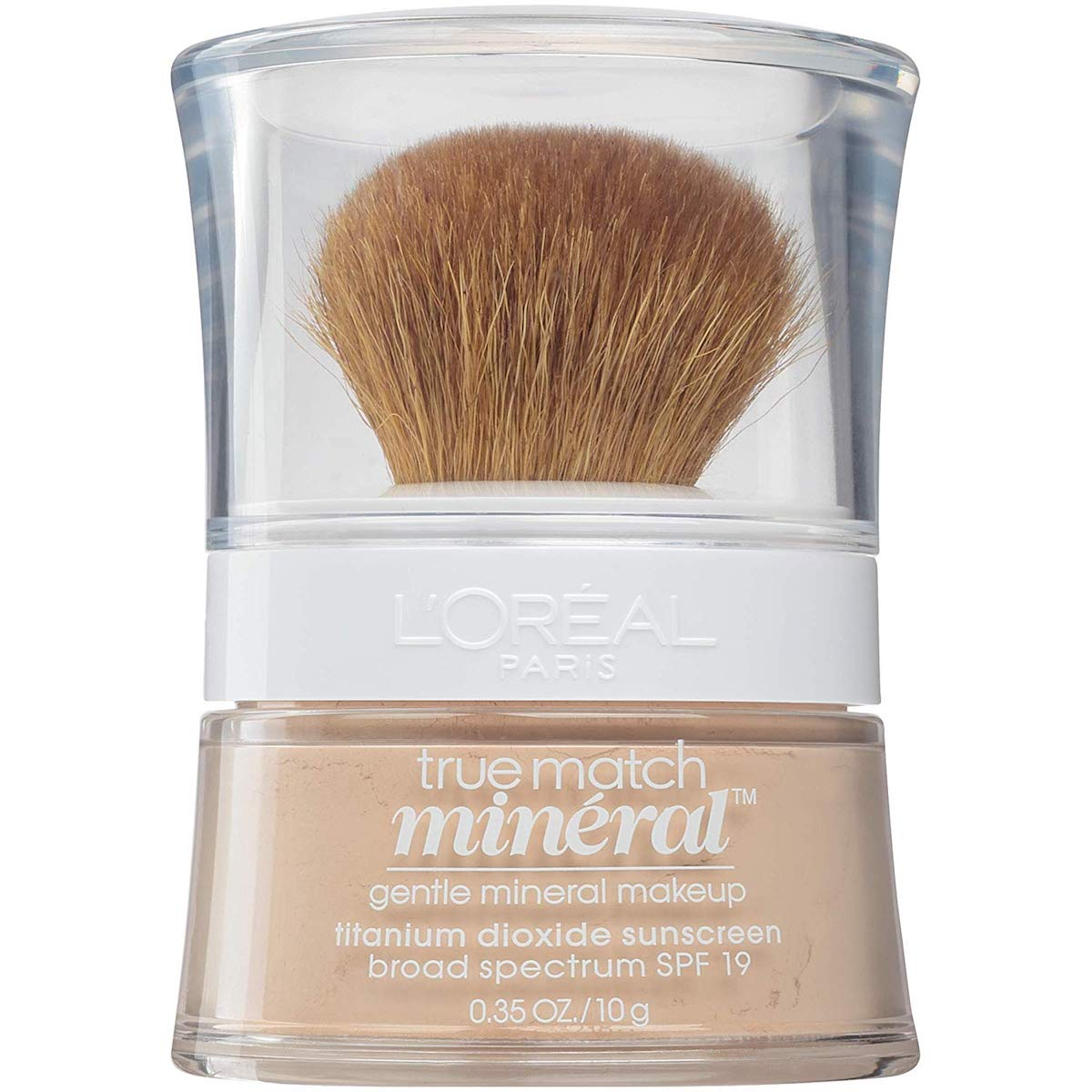 Loreal true match mineral foundation makeup with brush