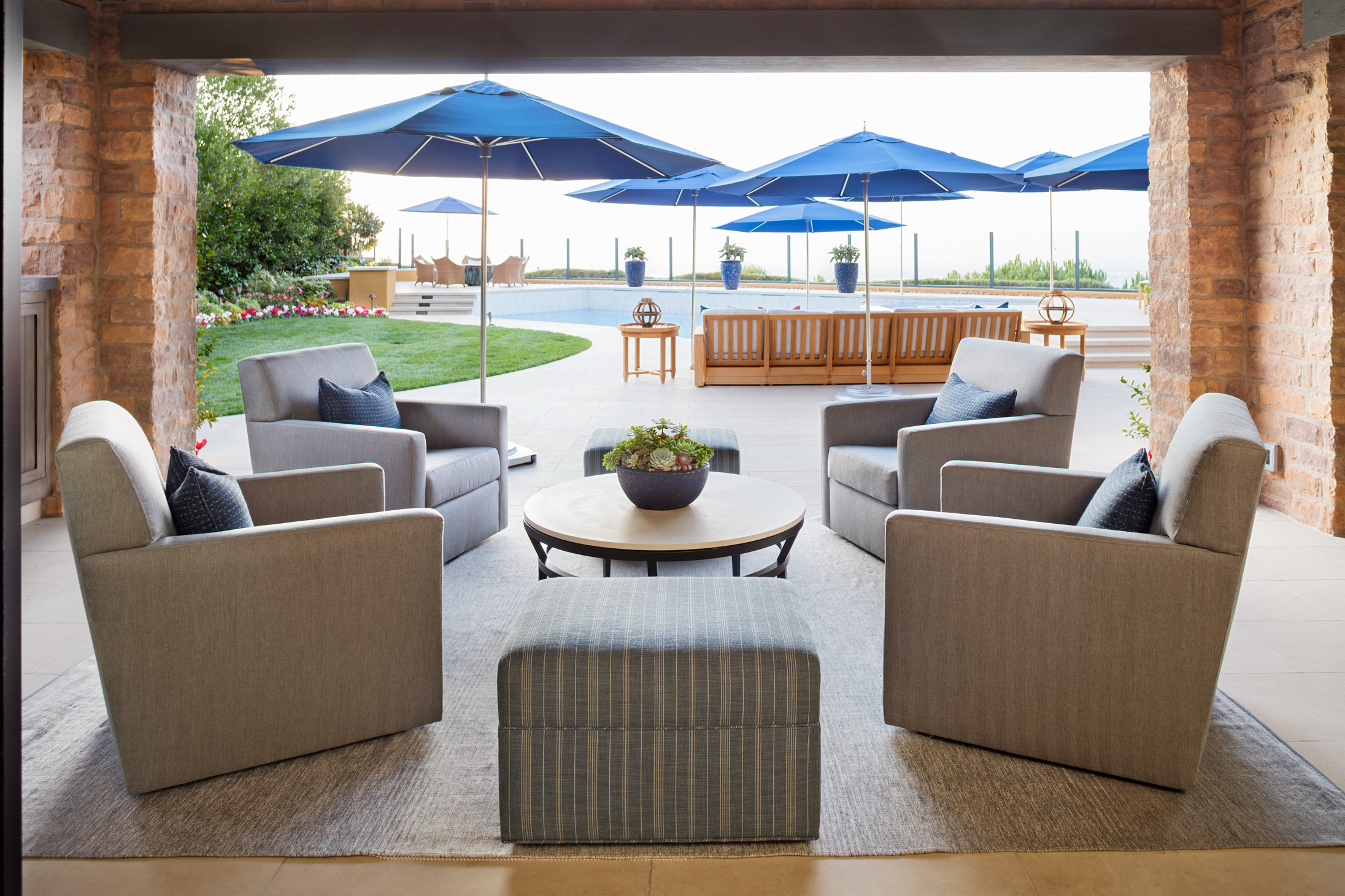 beachy home makeover loggia covered seating outdoor