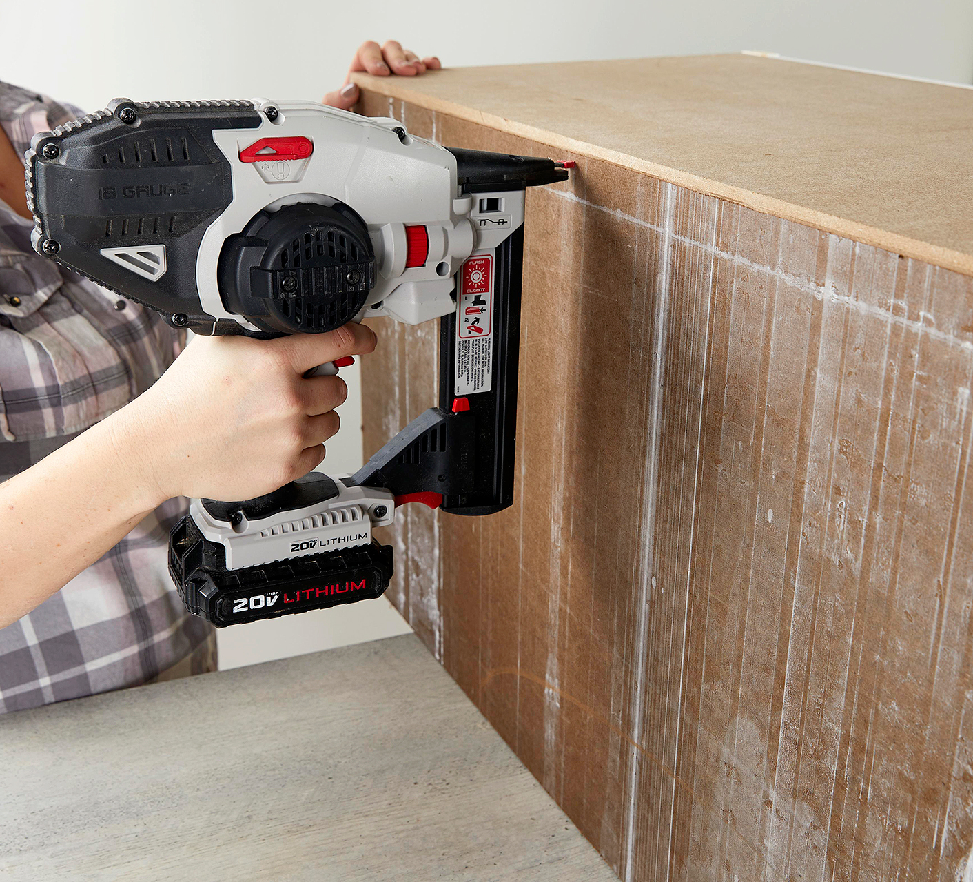 nail mdf particle board to back of box