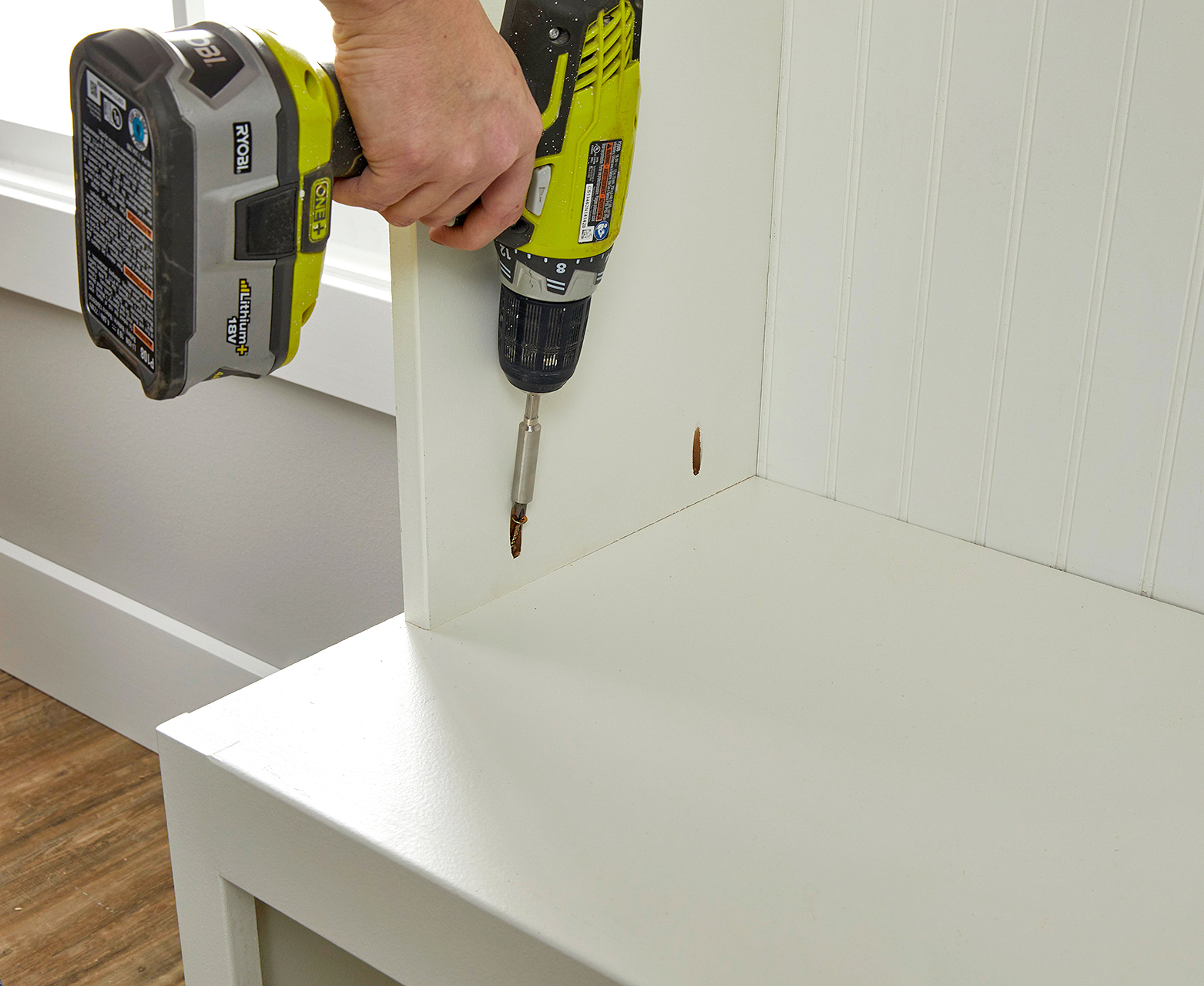 attach side of unit with screwdriver