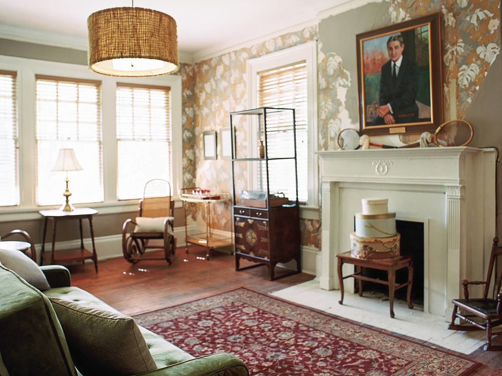 The living room of F. Scott Fitzgerald's home