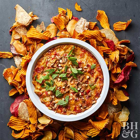 Spicy Roasted Red Pepper Artichoke Dip