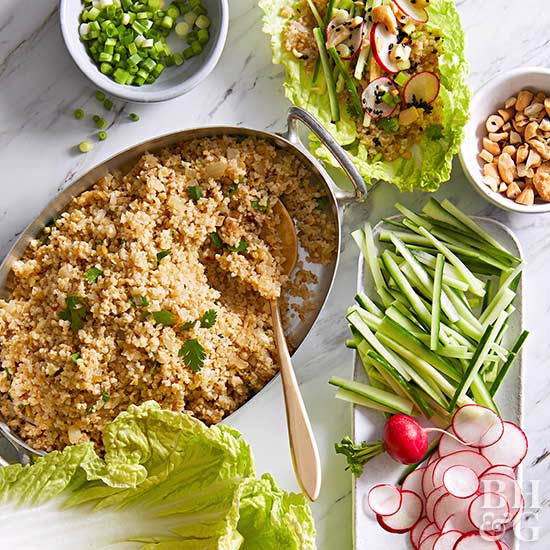 Sesame-Ginger Cabbage Wraps