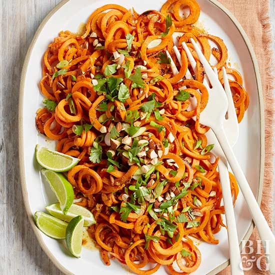 Sweet Potato Spiral Saute